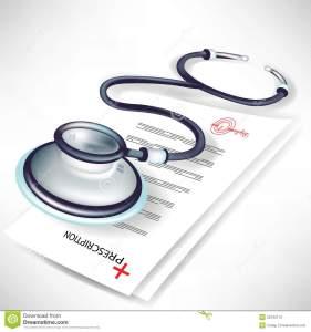 stéthoscope-et-prescription-médicale-22342112